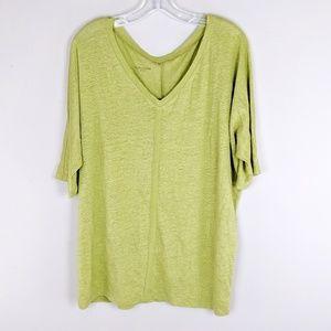 Eileen Fisher | Lime Linen Top - B16
